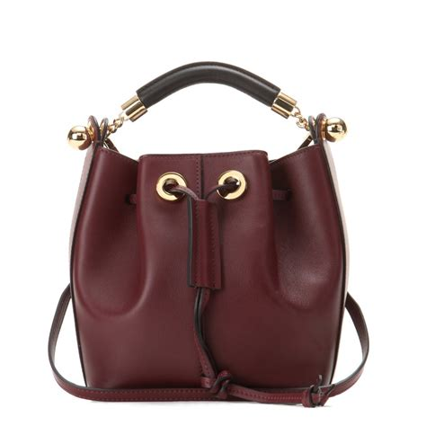 Lyst - Chloé Gala Small Leather Bucket Bag in Brown