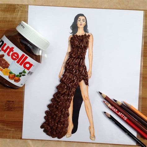 14 Incredible Sketches Showing Gorgeous Dresses Made From
