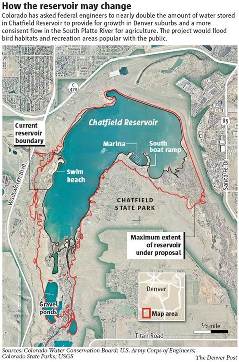 Colorado water storage at Chatfield Reservoir would double