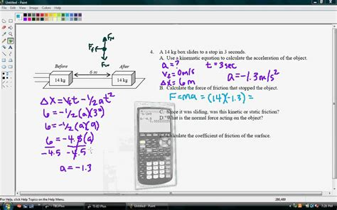 Using Kinematic Equations to Solve for Friction