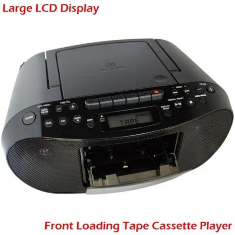 Sony Compact Portable Stereo Sound System Boombox with MP3