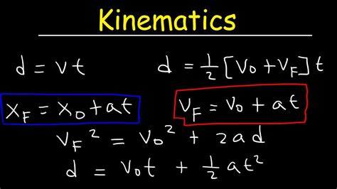 Kinematics In One Dimension, Physics Practice Problems