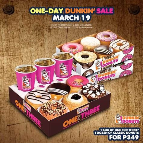 dunkin donuts price philippines