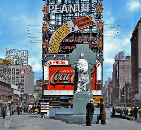 Time Square 1937, Father Duffy memorial