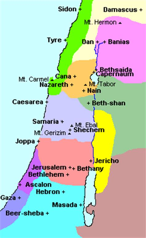 Palestine at the time of Jesus - Geography pages for Dr