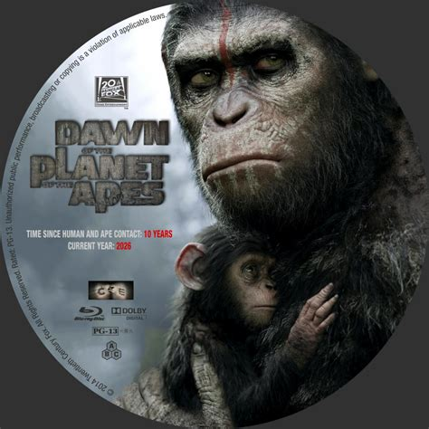 Dawn Of The Planet Of The Apes - Custom DVD Labels - Dawn