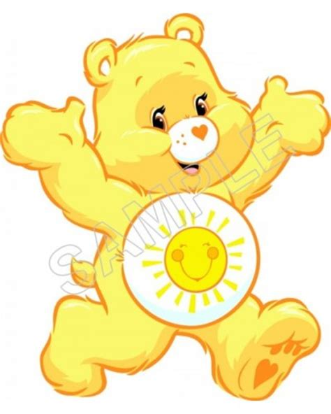 Personalized Iron On Transfers! Care Bears Funshine T