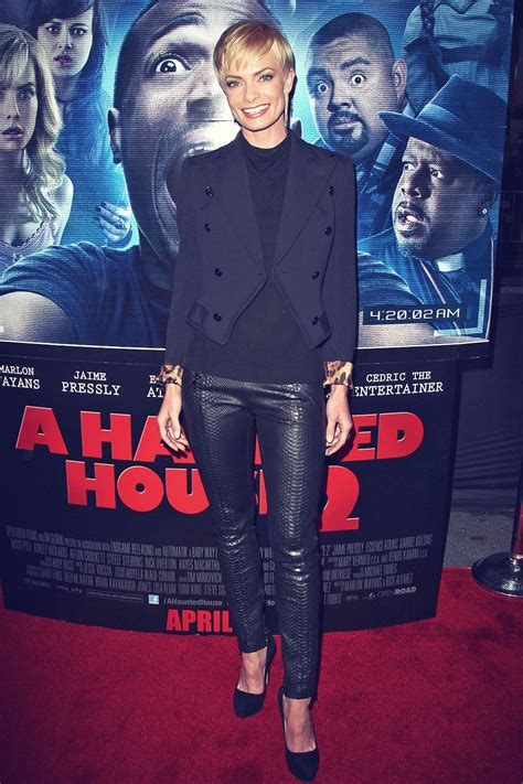 Jaime Pressly attends A Haunted House 2 Premiere - Leather