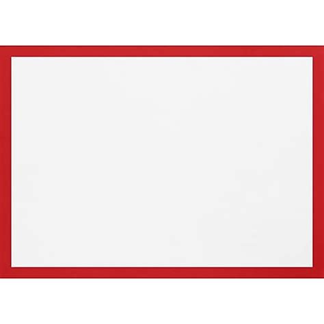 LUX A1 Border Flat Card (3 1/2 x 4 7/8) 50/Pack, Ruby Red