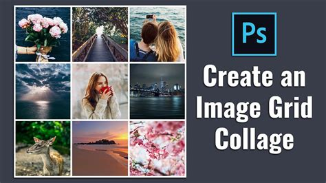 How to Create Square Image Grid Collage in Photoshop - YouTube