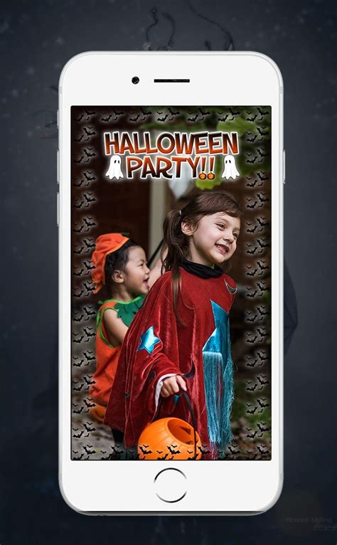 Spooky Snapchat Halloween Party Filter Designs!! Custom