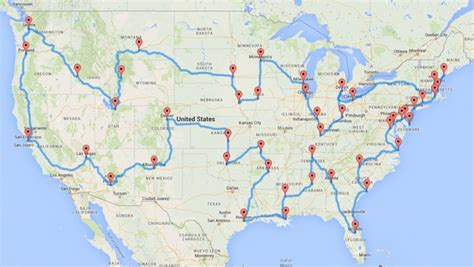 The Most Optimal Road Trip to Hit Every State in the