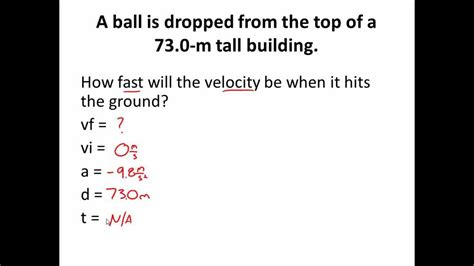 1D KINEMATIC MOTION PRACTICE PROBLEM- Example 1 (Classical