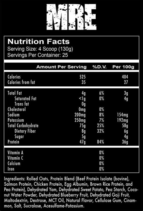 MRE Meal Replacement – CampusProtein