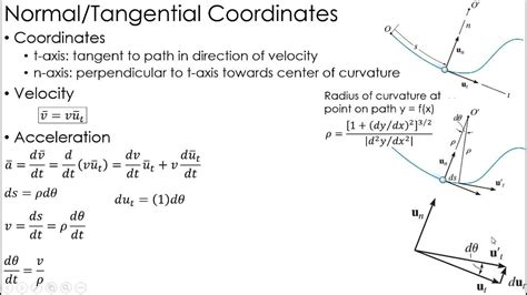 Dynamics Lecture: Kinematics using Normal/Tangential