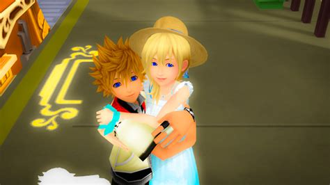 Roxas and Namine Sunset Station Love edited - Roxas and