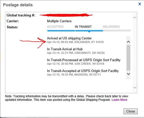 My item seems to be stuck at Erlanger, KY for more
