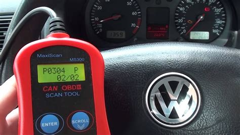 VW Golf Has P0420 P0304 o2 & Ignition Fault Codes & Engine