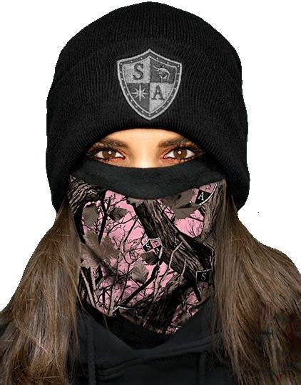 Pink Forest Camo Frost Tech Face Shield / Microfiber