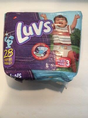 NEW Vintage RARE LUVS Blue's Clues 28 Diapers Size 3 NEW
