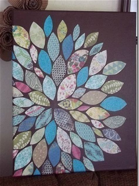 Paper Scraps Flower Wall Art · How To Create A Drawing Or