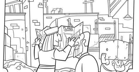 Rebuilding the Temple - Bible Coloring Pages | What's in