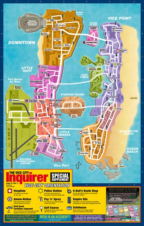 GTA Liberty City and Vice City Stories: classic maps