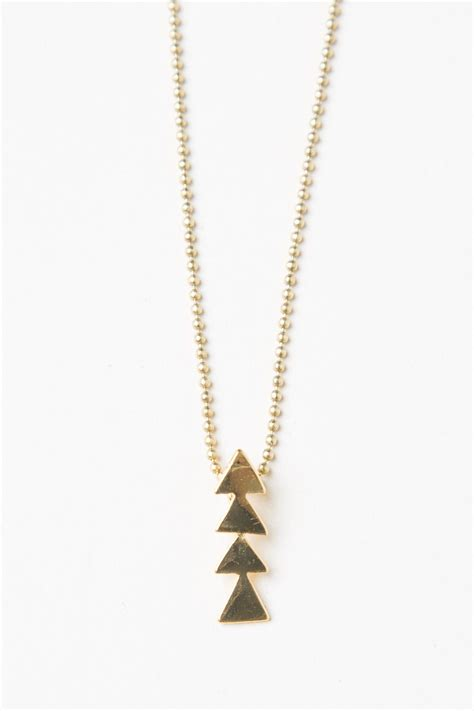 Brandy ♥ Melville   Gold Triangle Necklace - Accessories